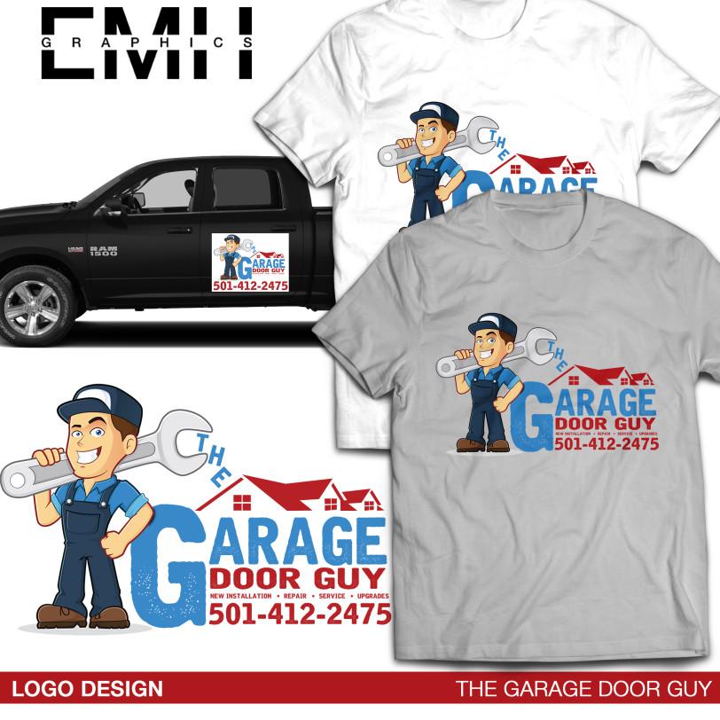 Delightful Garage Door Guy Logo